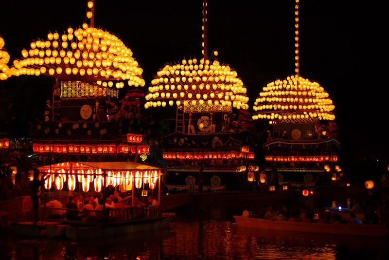 Lanterns at Tenno Matsuri Aichi prefecture