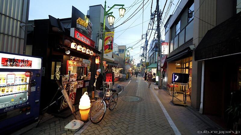 bikes and street food in Koenji Tokyo