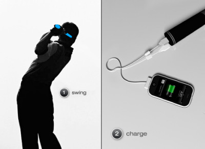 Handgrip i-phone charger