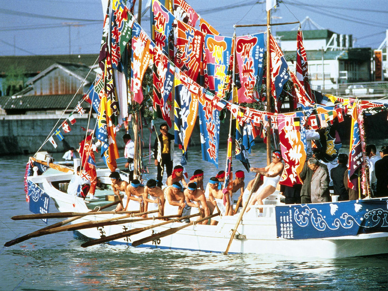 Horan Enya Festival Boat in Oita prefecture