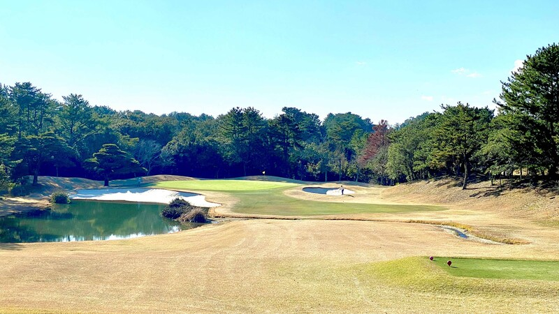 Featured hole at the Kintetsu Kashikojima Country Club golf course in Mie prefecture, Japan