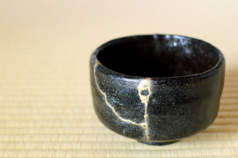 a tradition of golden repair for Japanese pottery