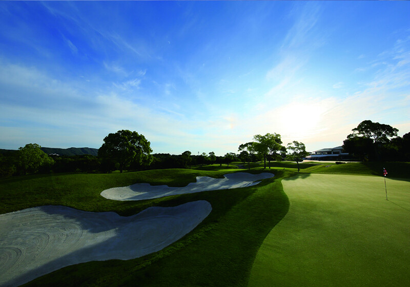 A view of a golf course in Japan. What's different about playing golf in Japan?