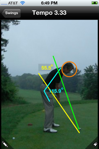 Swingreader Golf - i-phone App