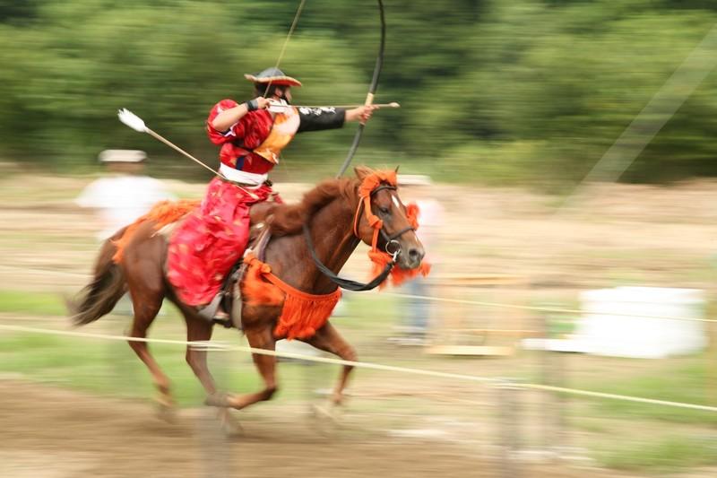 Horseback archery in Miyazaki