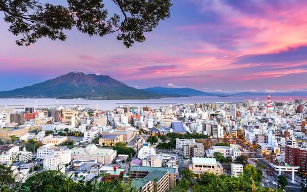Sunset in Kagoshima